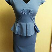 Одежда handmade. Livemaster - original item Vestido con baskoj . La costura de vestidos por encargo. empresarial vestido.. Handmade.