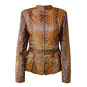 Одежда handmade. Livemaster - original item Jacket from Python ALCARO. Handmade.