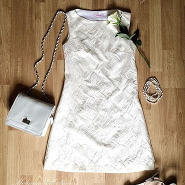Одежда ручной работы. Ярмарка Мастеров - ручная работа Платье А-силуэта из жаккарда. Handmade.