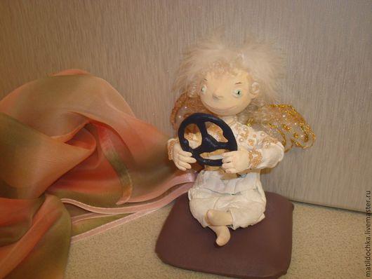 Сказочные персонажи ручной работы. Ярмарка Мастеров - ручная работа. Купить Кукла-сувенир Ангелочек с рулем. Handmade. Кукла