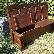 Для дома и интерьера ручной работы. Ярмарка Мастеров - ручная работа Скамейка с ящиками. Handmade.