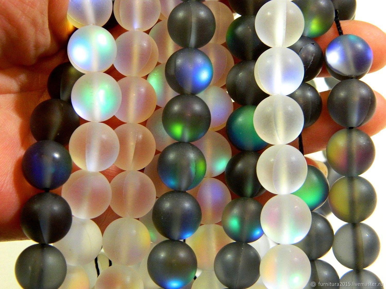 Опал бусины 12.5 мм  цвет белый и черный. шт, Бусины, Саратов,  Фото №1