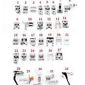 Инструменты для шитья ручной работы. Ярмарка Мастеров - ручная работа Набор №1 из 32 лапок для швейной машины. Handmade.