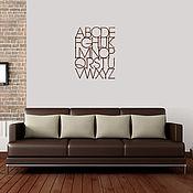 Для дома и интерьера ручной работы. Ярмарка Мастеров - ручная работа Деревянный алфавит. Handmade.