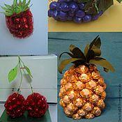 Цветы и флористика ручной работы. Ярмарка Мастеров - ручная работа фрукты из конфет. Handmade.