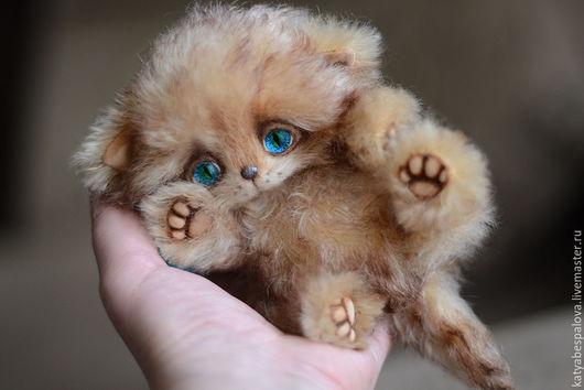 Мишки Тедди ручной работы. Ярмарка Мастеров - ручная работа. Купить Котенок. Handmade. Комбинированный, игрушка, подарок, шерсть