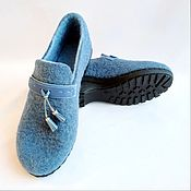 Обувь ручной работы handmade. Livemaster - original item Wedge shoes felted. Handmade.