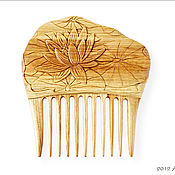 """Сувениры и подарки ручной работы. Ярмарка Мастеров - ручная работа Гребень для волос деревянный """"Лилия"""". Handmade."""