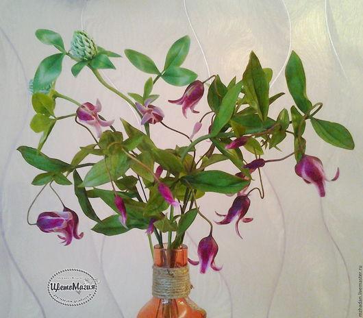 Цветы ручной работы,цветы из полимерной глины.авторские цветы ручной работы.композиция для интерьера.