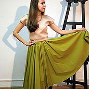"""Одежда ручной работы. Ярмарка Мастеров - ручная работа Юбка солнце в стиле 50-х """"Олива"""". Handmade."""