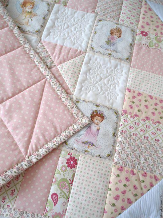 Для новорожденных, ручной работы. Ярмарка Мастеров - ручная работа. Купить Одеяло лоскутное для новорожденного на выписку. Handmade. Лоскутное одеяло