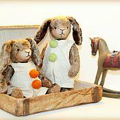 Куклы и игрушки ручной работы. Ярмарка Мастеров - ручная работа зайцы. Handmade.
