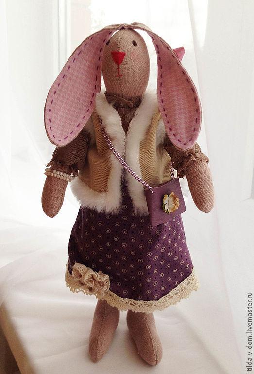 Куклы Тильды ручной работы. Ярмарка Мастеров - ручная работа. Купить Крольчиха  Маргаритта. Handmade. Бежевый, украшение интерьера