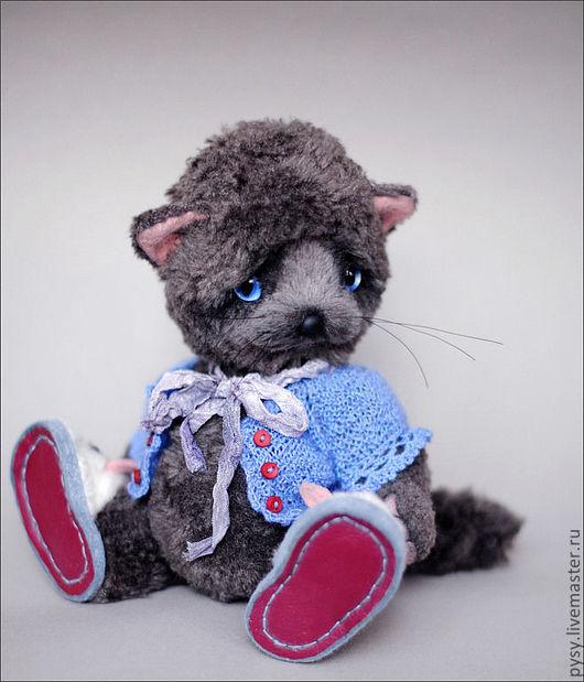 Мишки Тедди ручной работы. Ярмарка Мастеров - ручная работа. Купить Котя и его мышки !!!. Handmade. Темно-серый