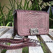 Сумки и аксессуары handmade. Livemaster - original item Handbag made from Python CANELE. Handmade.