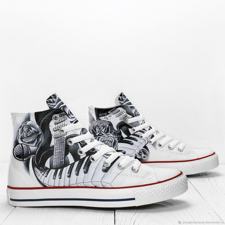 Обувь ручной работы. Ярмарка Мастеров - ручная работа. Купить Высокие кеды  Prospect Avenue « ... 88592f381aa11