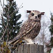Куклы и игрушки handmade. Livemaster - original item Owl. Sculpture made of wool. Interior toy. Handmade.