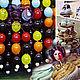Шторы из шаров на вход, топперы в стиле праздника