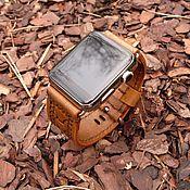 """Украшения ручной работы. Ярмарка Мастеров - ручная работа Ремешок для часов (Apple Watch Leather Band ) """"Бежевый теленок"""". Handmade."""