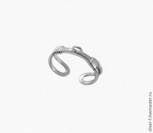 Для украшений ручной работы. Ярмарка Мастеров - ручная работа. Купить Основа для кольца из серебра №2. Handmade. Серебряный