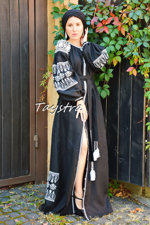 Arabic Dress Black Maxi Dress Arabic style, Embroidered Dress, Dresses, Chernovtsy,  Фото №1