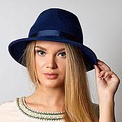 """Шляпы ручной работы. Ярмарка Мастеров - ручная работа Фетровая шляпа """"Bleu marine"""". Handmade."""