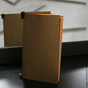"""Канцелярские товары ручной работы. Ярмарка Мастеров - ручная работа Блокнот  10/17 """" Orange"""". Handmade."""