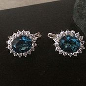 Украшения handmade. Livemaster - original item Earring silver with Topaz London. Handmade.