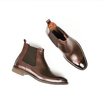 Обувь ручной работы. Ярмарка Мастеров - ручная работа Челси мужские из натуральной кожи Обувь ручной работы. Handmade.