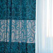 Для дома и интерьера ручной работы. Ярмарка Мастеров - ручная работа Синие шторы для гостиной. Handmade.