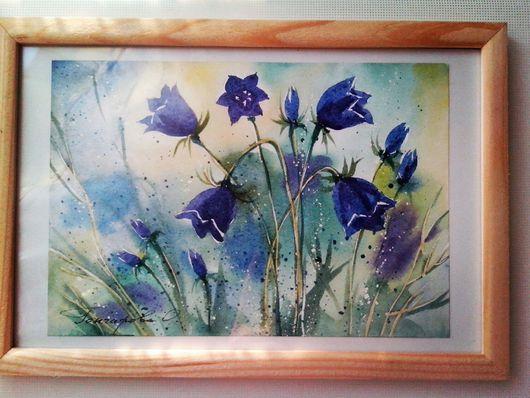 Картины цветов ручной работы. Ярмарка Мастеров - ручная работа. Купить Картина акварелью. Колокольчики. Handmade. Акварель, цветы