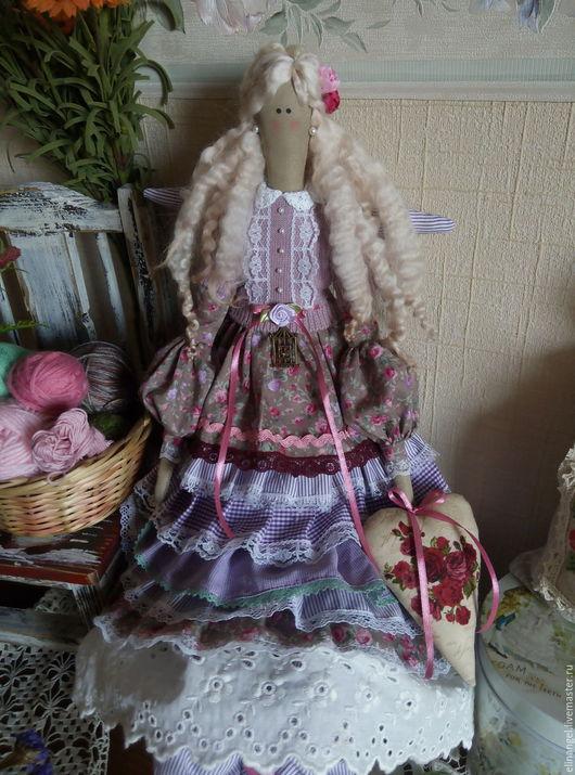 Куклы Тильды ручной работы. Ярмарка Мастеров - ручная работа. Купить Агнетта текстильная кукла тильда. Handmade. Тильда, ангел