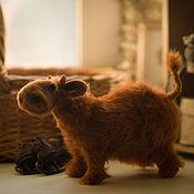 Куклы и игрушки ручной работы. Ярмарка Мастеров - ручная работа Корова на Коньках. Handmade.
