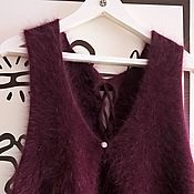 Одежда ручной работы. Ярмарка Мастеров - ручная работа жилет из ангоры80. Handmade.