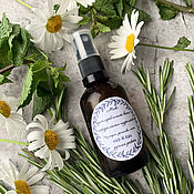 Косметика ручной работы handmade. Livemaster - original item Mix of hydrolates for problem skin Chamomile, mint and rosemary. Handmade.