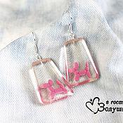 Украшения handmade. Livemaster - original item Earrings with Bouncy dogs. Handmade.