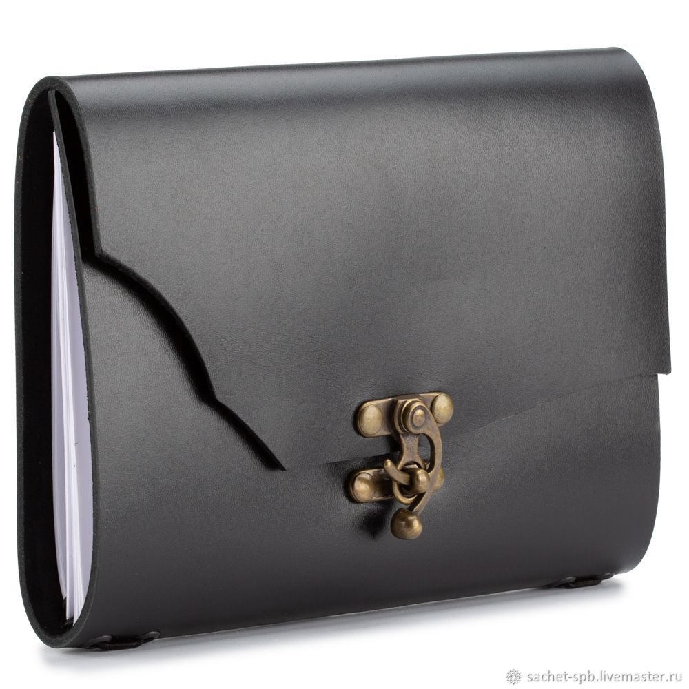 Leather diary 'Quentin' (black), Diaries, St. Petersburg,  Фото №1