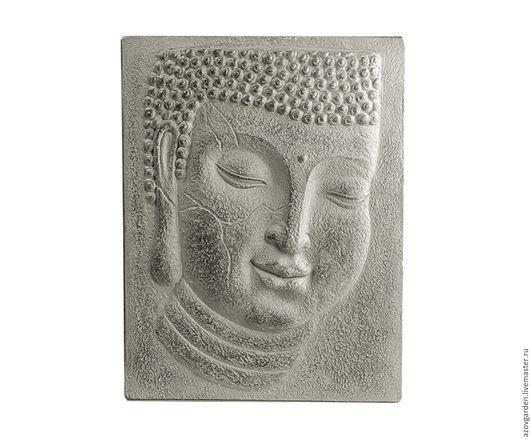 Этно ручной работы. Ярмарка Мастеров - ручная работа. Купить Панно, картина, портрет  Будды, серое из бетона или гипса. Handmade.
