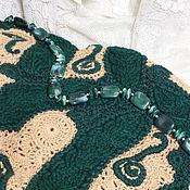 """Одежда ручной работы. Ярмарка Мастеров - ручная работа Жилет теплый вязаный ручной работы """"Зелень на песке"""". Handmade."""