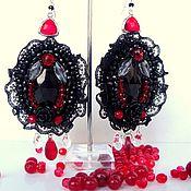 Украшения handmade. Livemaster - original item Large formal earrings