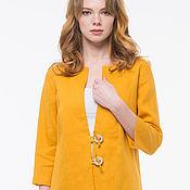 Одежда handmade. Livemaster - original item Amber cardigan jacket made of 100% linen. Handmade.