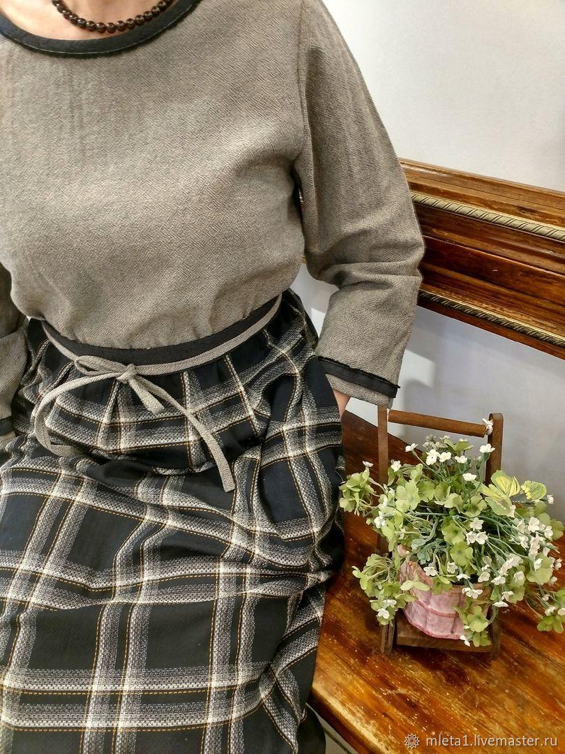 Платье комбинированное Бохо, Платья, Санкт-Петербург,  Фото №1