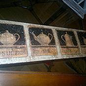 Картины и панно ручной работы. Ярмарка Мастеров - ручная работа Панно деревянное настенное Кофейный квартет W0400. Handmade.