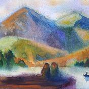 Картины ручной работы. Ярмарка Мастеров - ручная работа Картины: Утро во фьорде. Handmade.