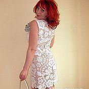 """Одежда ручной работы. Ярмарка Мастеров - ручная работа платье"""" белоснежный ажур"""". Handmade."""