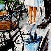 Картины и панно ручной работы. Ярмарка Мастеров - ручная работа картина маслом СВИДАНИЕ. Handmade.