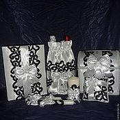 """Свадебный салон ручной работы. Ярмарка Мастеров - ручная работа свадебный набор """"Жених и невеста"""". Handmade."""