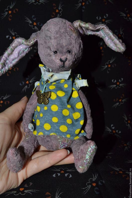 Мишки Тедди ручной работы. Ярмарка Мастеров - ручная работа. Купить Зайка Горошинка. Handmade. Сиреневый, тедди в подарок