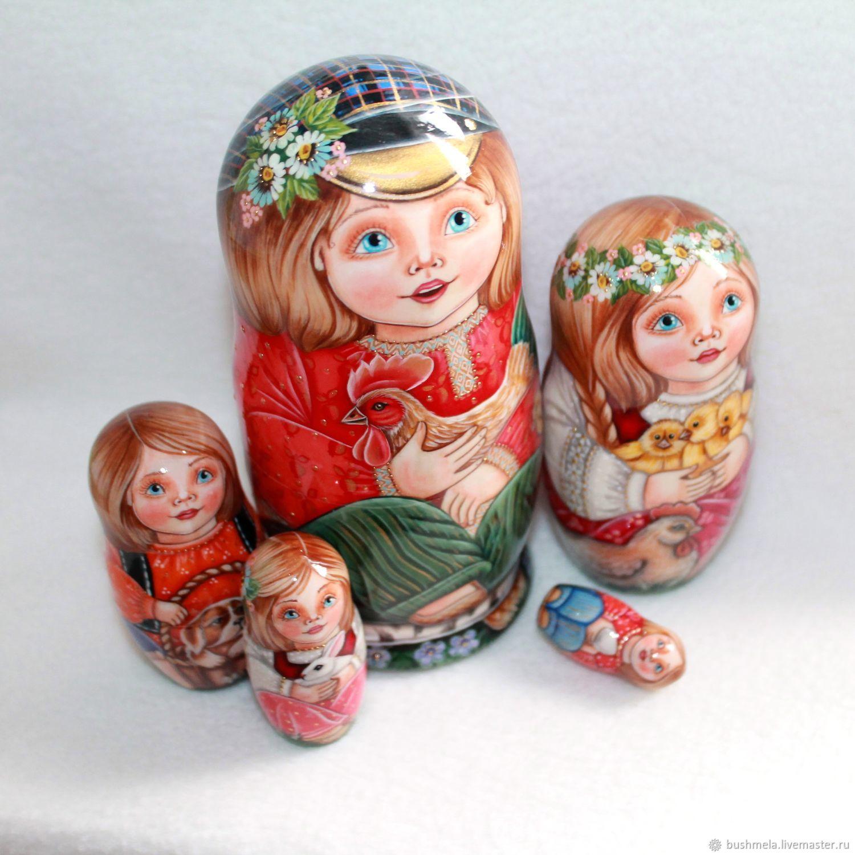 Матрешка 5 в 1. 14см. Мальчик, Матрешки, Киров,  Фото №1