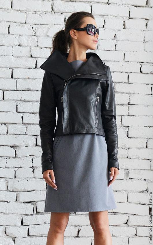 Верхняя одежда ручной работы. Ярмарка Мастеров - ручная работа. Купить КУРТКА Leather Black. Handmade. Куртка, черная куртка